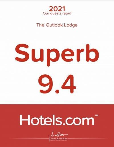 Hotels.com - Superb Award
